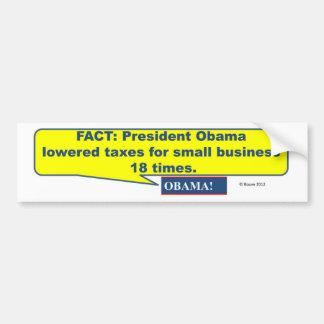 ObamaLoweredTaxes Bumper Sticker