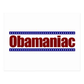 Obamaniac Postcard