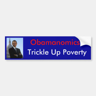 Obamanomics w/ picture bumper sticker