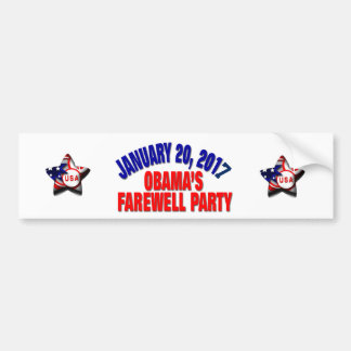 Obama's Farewell Party Bumper Sticker