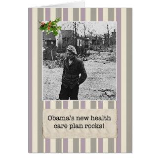 Obama's Health Care Plan Christmas Cards