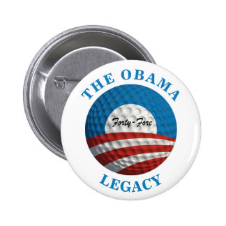 Obama's Legacy Golf Ball 2 Inch Round Button
