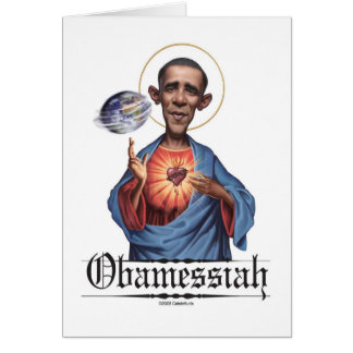 Obamessiah Note Card