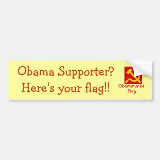 Obammunist Flag Bumper Sticker