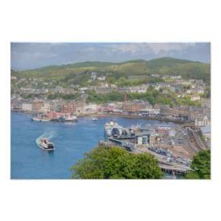 Oban Harbour Aerial from Pulpit Hill Photo Art