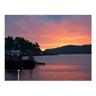 Oban Harbour, Scotland Postcard