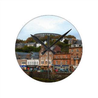 Oban, Scotland Round Clock