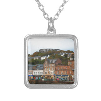 Oban, Scotland Silver Plated Necklace