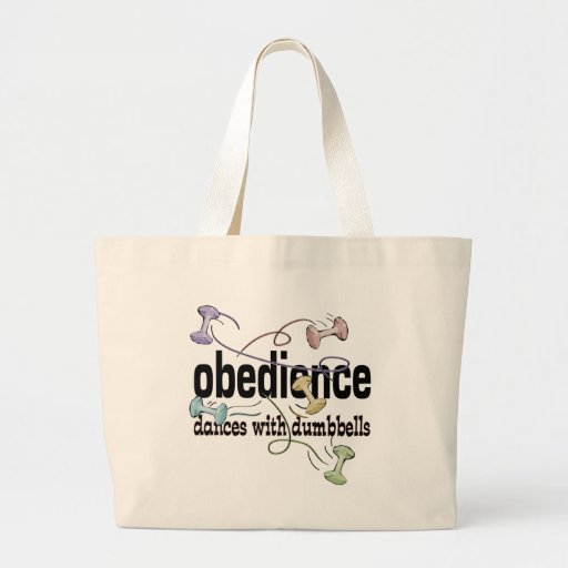 Obedience: Dances with Dumbbells Jumbo Tote Bag