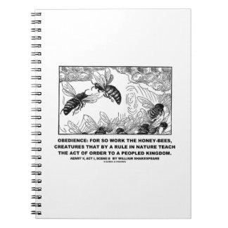 Obedience Work Honey-Bees Henry V Shakespeare Notebooks
