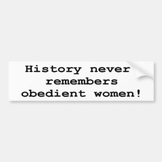 Obedient Women Bumper Sticker