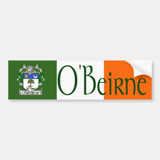 O'Beirne Coat of Arms Bumper Sticker