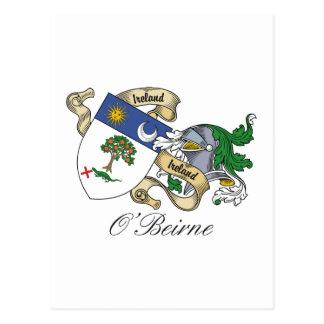 O'Beirne Family Crest Postcard