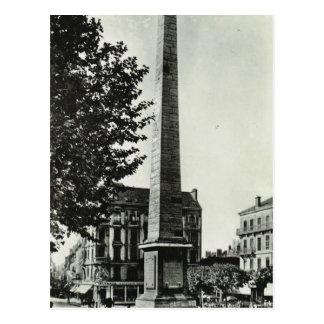 Obelisk, Chalons sur Saone Postcard