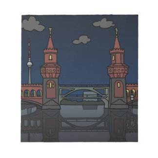 Oberbaum Bridge Berlin at night Notepad