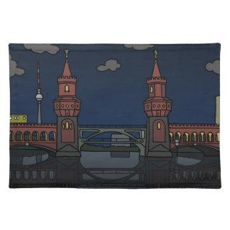 Oberbaum Bridge Berlin at night Placemat