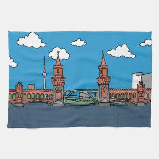 Oberbaum Bridge in Berlin Kitchen Towel