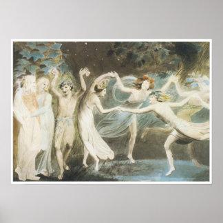 Oberon, Titania and Puck with Fairies Dancing Print