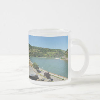 Oberwesel on the Rhine Frosted Glass Coffee Mug