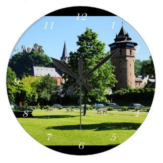 Oberwesel on the Rhine Large Clock