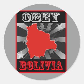 Obey Bolivia Classic Round Sticker