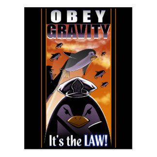 Obey Gravity Postcard