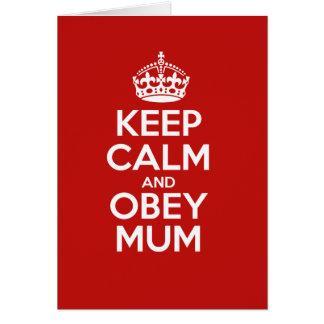 Obey Mum Card