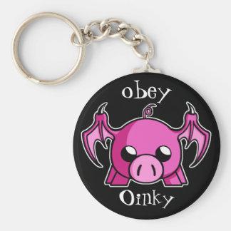 obey Oinky keychain