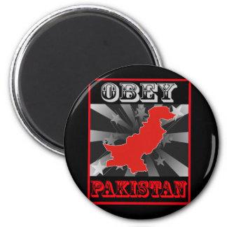 Obey Pakistan 2 Inch Round Magnet
