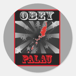 Obey Palau Classic Round Sticker
