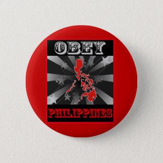 Obey Philippines 2 Inch Round Button
