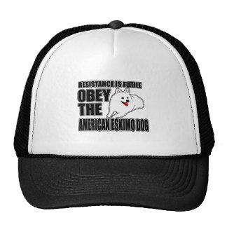Obey The American Eskimo Dog Trucker Hat