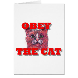 Obey the Cat Card
