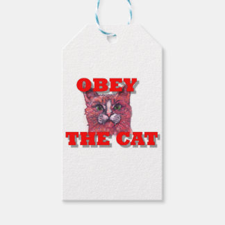 Obey the Cat Gift Tags