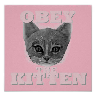 Obey the Kitten Poster