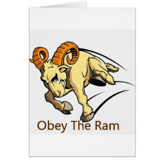 Obey the Ram Card
