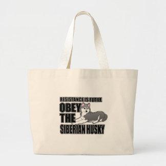 Obey The Siberian Husky Jumbo Tote Bag