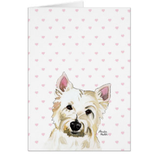 Obey the Westie Highland Terrier Cute Note Card