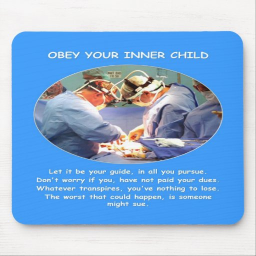 obey-your-inner-child mouse pad
