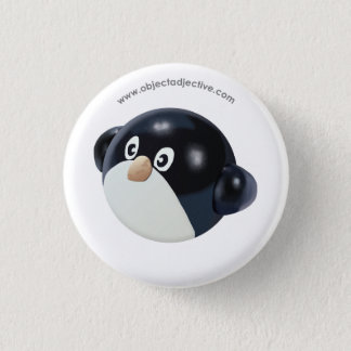 Object Adjective Penguin 1 Inch Round Button
