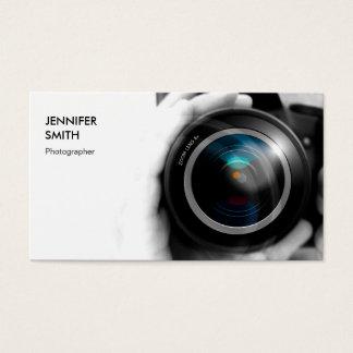 Objectif de caméra simplement noir et blanc de cartes de visite