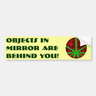 Objects in Mirror are Behind You! Bumper Sticker