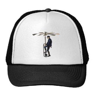 Objet victorien vintage de vol d hélicoptère casquette de camionneur