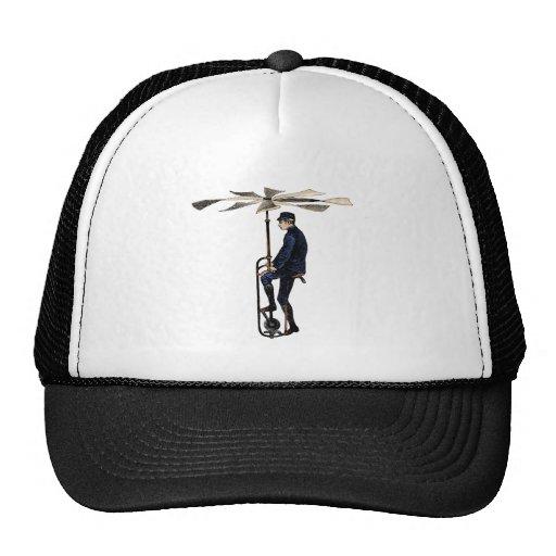 Objet victorien vintage de vol d'hélicoptère casquette de camionneur