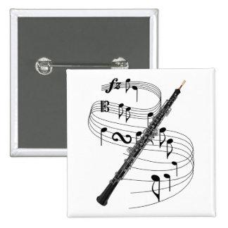 Oboe 2 Inch Square Button