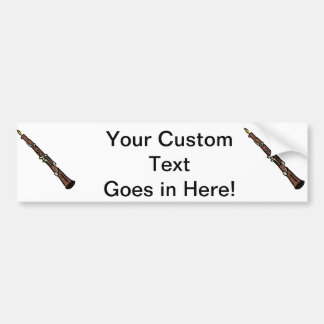 Oboe Abstract Brown Graphic Image Music Design Bumper Sticker