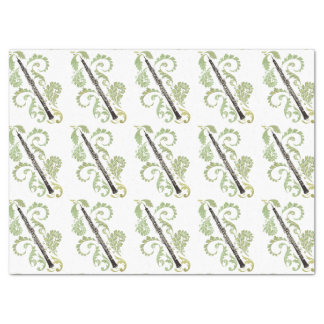 Oboe and Foliage Tissue Paper