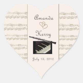 oboe and piano custom sticker