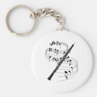 Oboe Basic Round Button Keychain