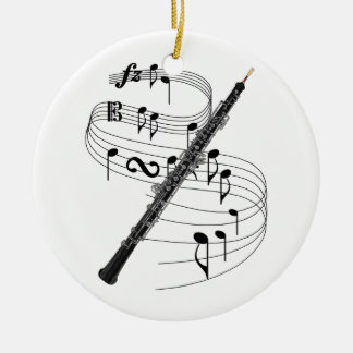 Oboe Ceramic Ornament
